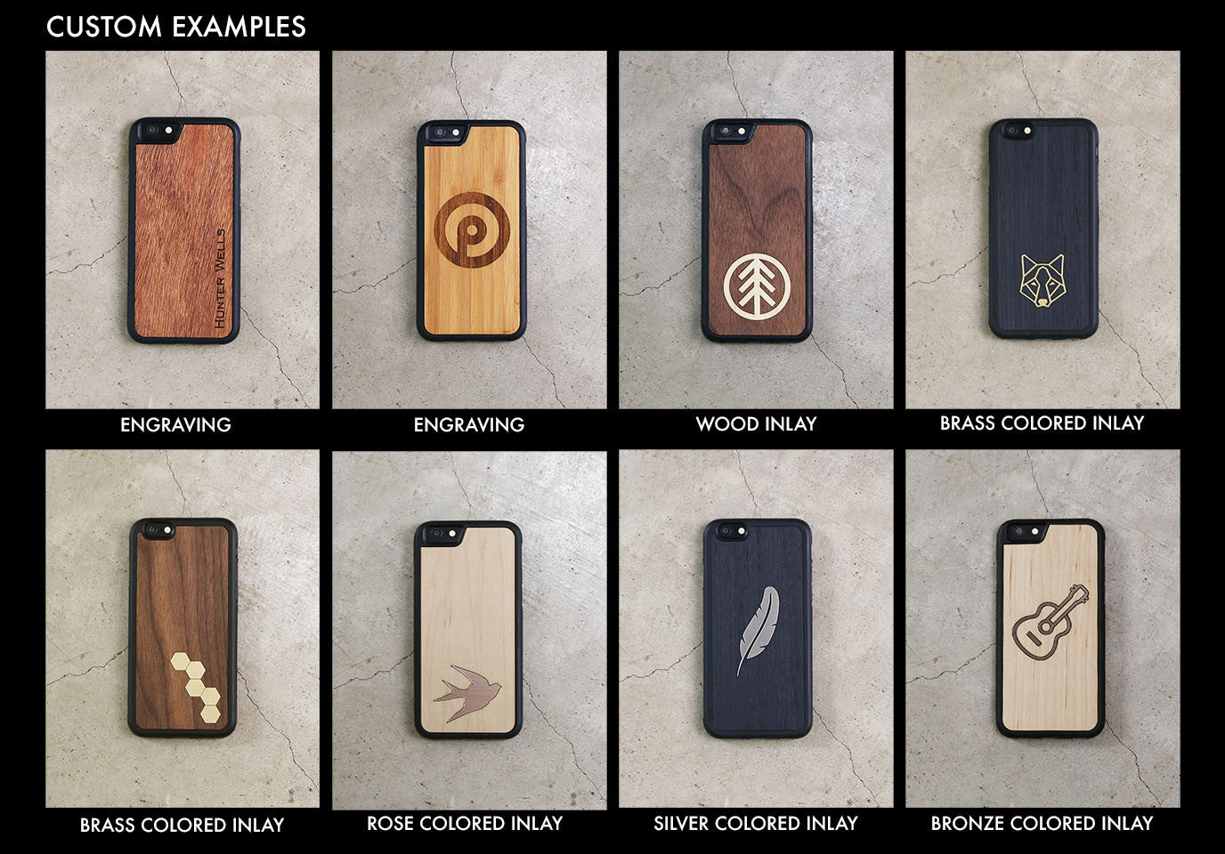 Real Wood iPhone Case Custom 5 5S 6 6S 6 Plus 7