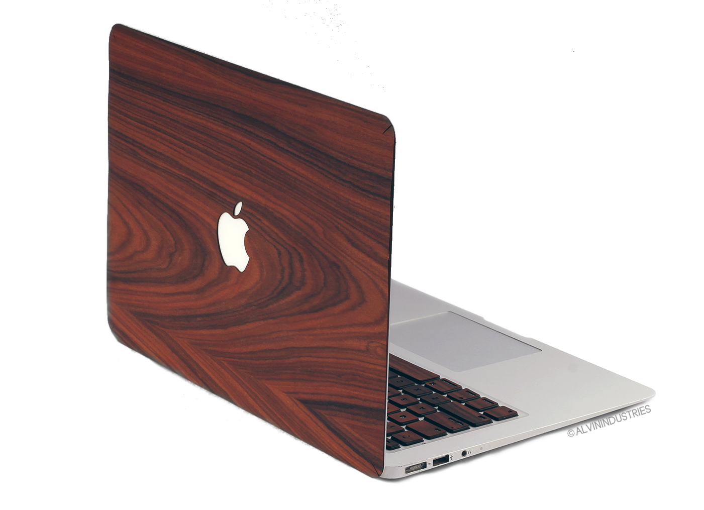 Real Wood MacBook Skin Decal Case Rosewood Pro Air TouchBar