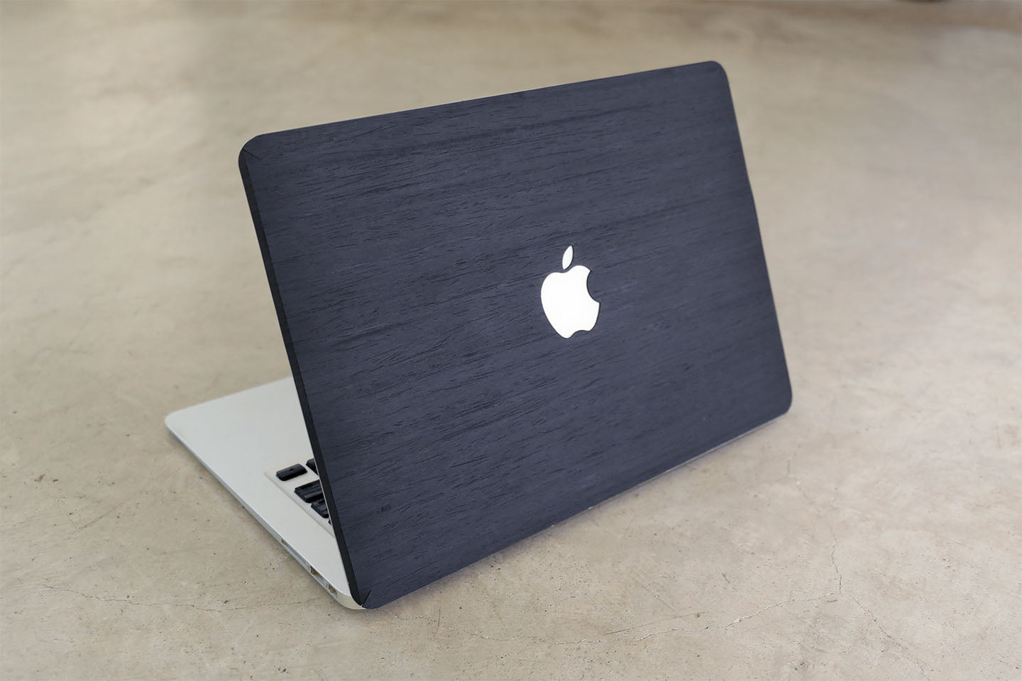 Real Wood MacBook Skin Decal Case Black Ash Pro Air TouchBar