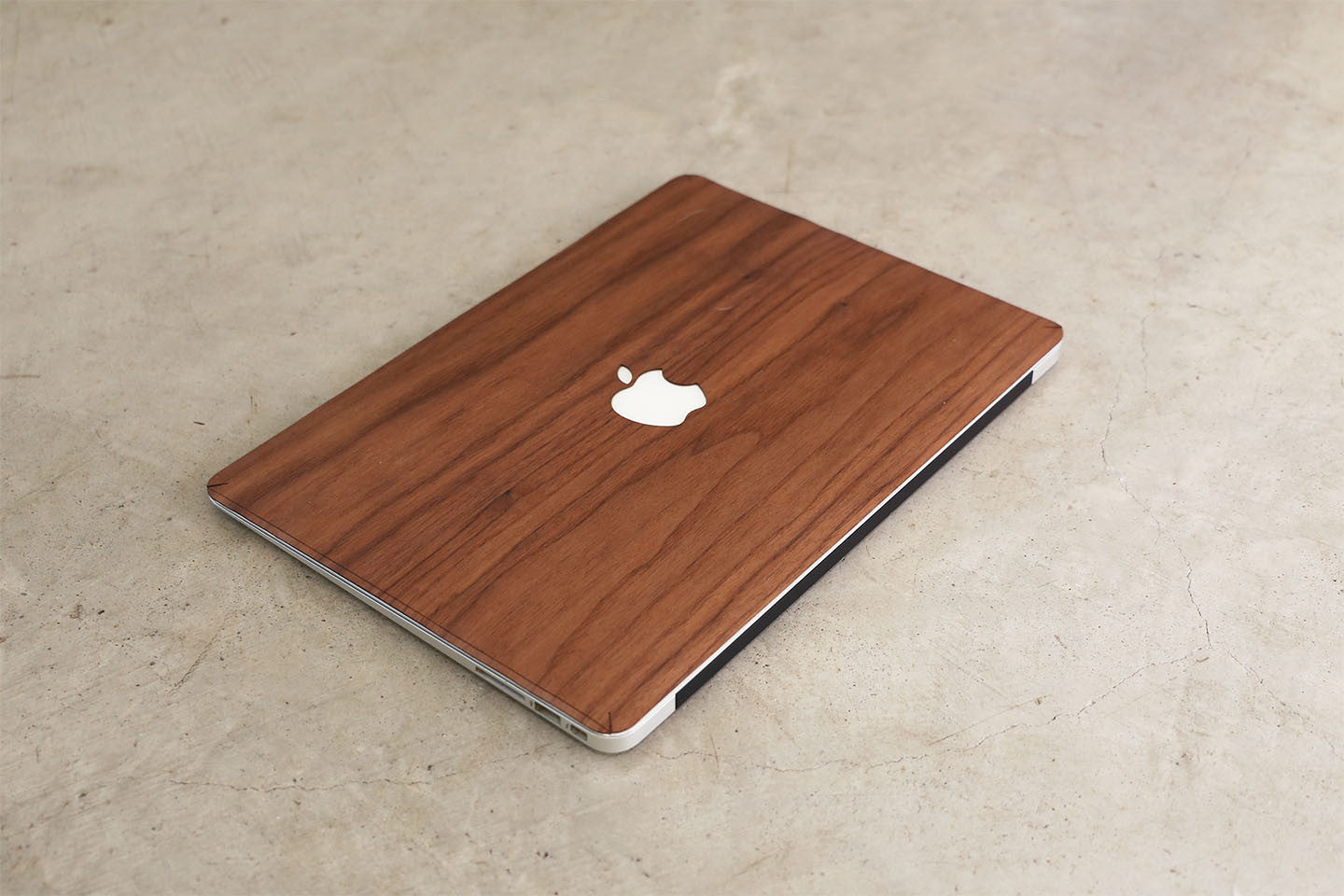 Real Wood MacBook Skin Decal Case Walnut Pro Air TouchBar