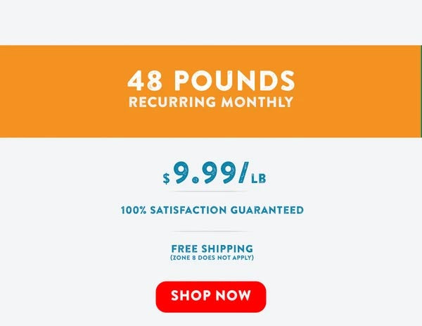 RAW WILD - Premium Raw Cat Food (48lbs Monthly)