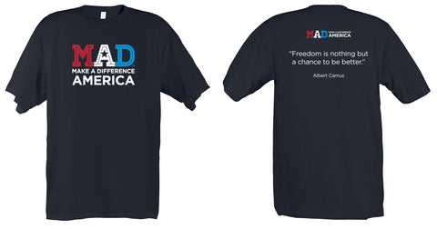 Make A Difference America T-Shirt – Black