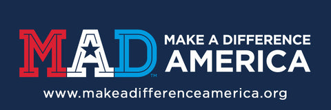 Make A Difference America Bumper Sticker