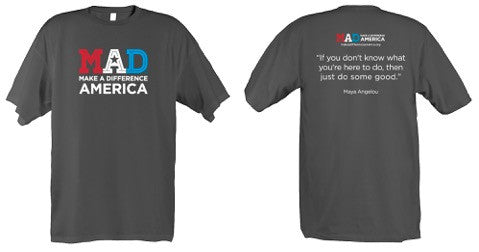 Make A Difference America T-Shirt - Gray