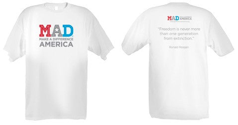Make A Difference America T-Shirt - White