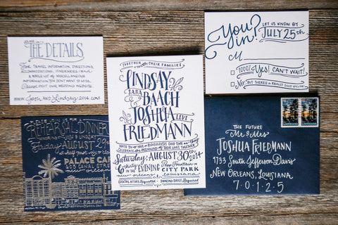 Lindsay and Josh Wedding Invitations