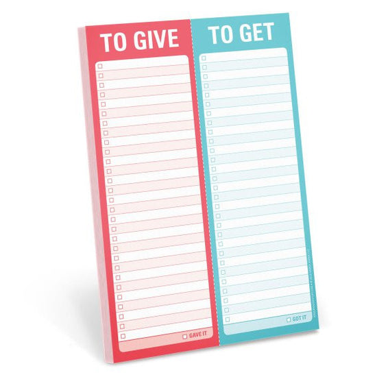 To Give/ To Get Gift Notepad