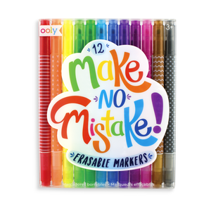 Make No Mistake Erasable Markers 12 Pack