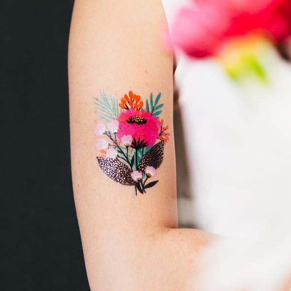 May Bloom Temporary Tattoo Set