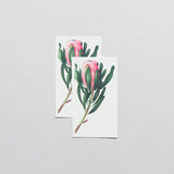 Pink Protea Temporary Tattoo Set