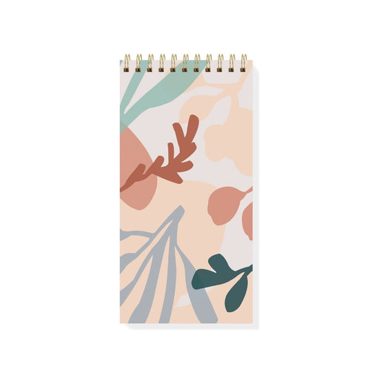 Graphic Plant Tall Spiral Notepad