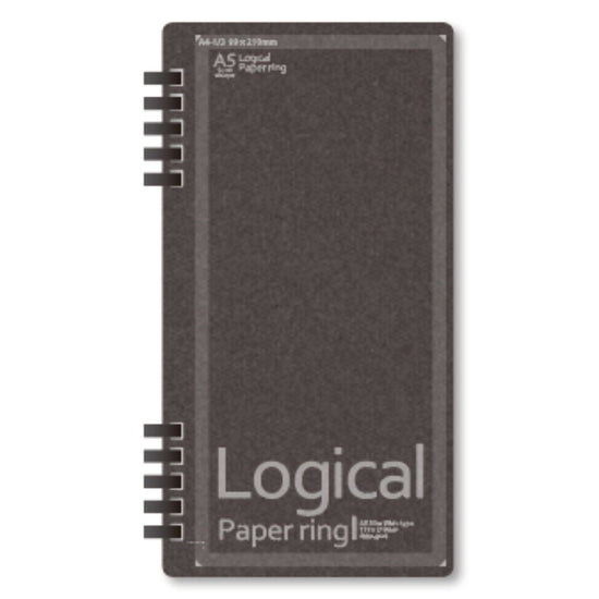 Black Logical Paper Ring Notebook