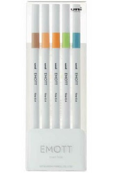 EMOTT Fineliner 5 Pack - No. 6 Nature