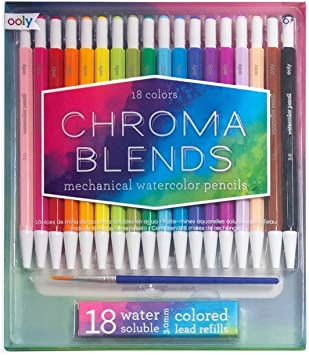 Chroma Blends Mechanical Watercolor Pencils 18 Pack