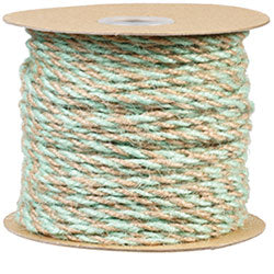 Mint/Natural Jute Twine-- Roll of 50 yds.