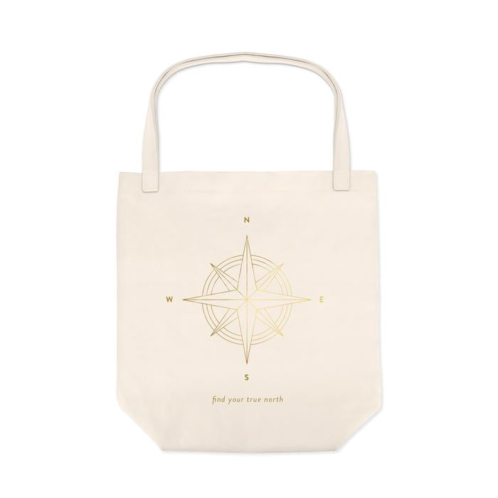 Compass Canvas Tote