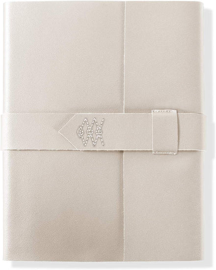 Ivory Thread Stitched Journal