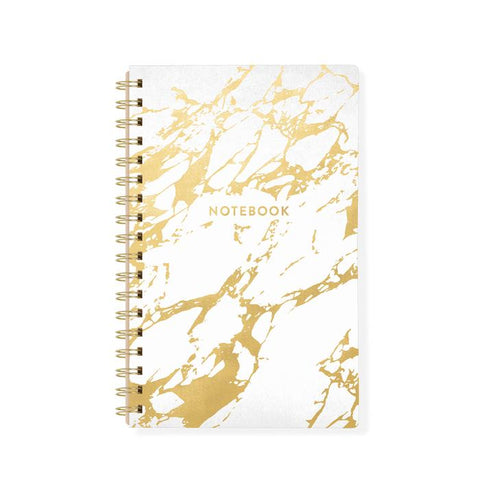 White Marble Faux Leather Notebook