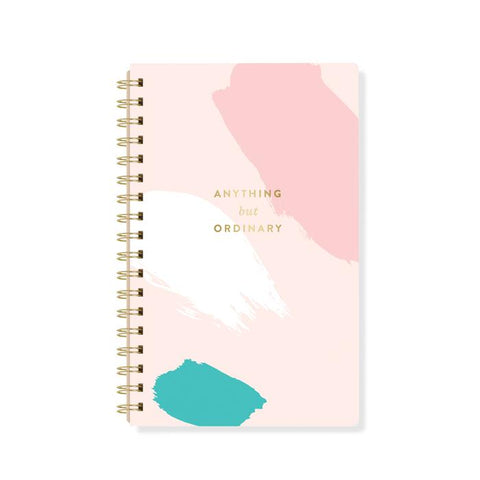"Faux Leather Notebook ""Anything but Ordinary"""