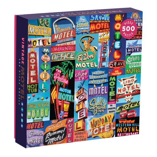 Vintage Motel Signs 500 Piece Puzzle