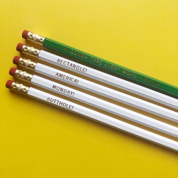 Ron Swanson's New Typewriter Pencil Set