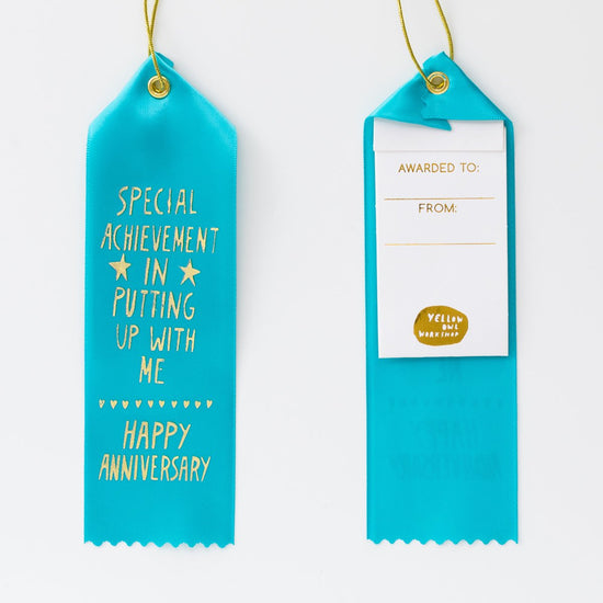 Anniversary Putting Up With Me Award Ribbon