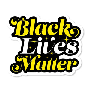 Black Lives Matter Script Sticker