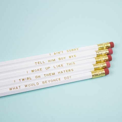 Beyoncé Pencil Set