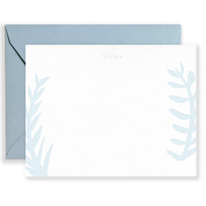 Personalized Brush Laurels Social Stationery