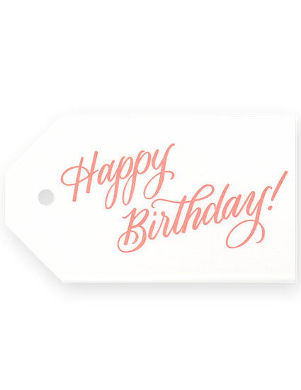 Gift Tags - Happy Birthday