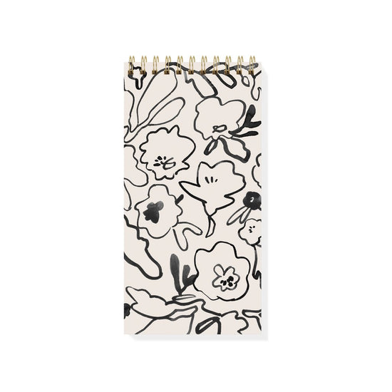 Messy Flower Tall Spiral Notepad