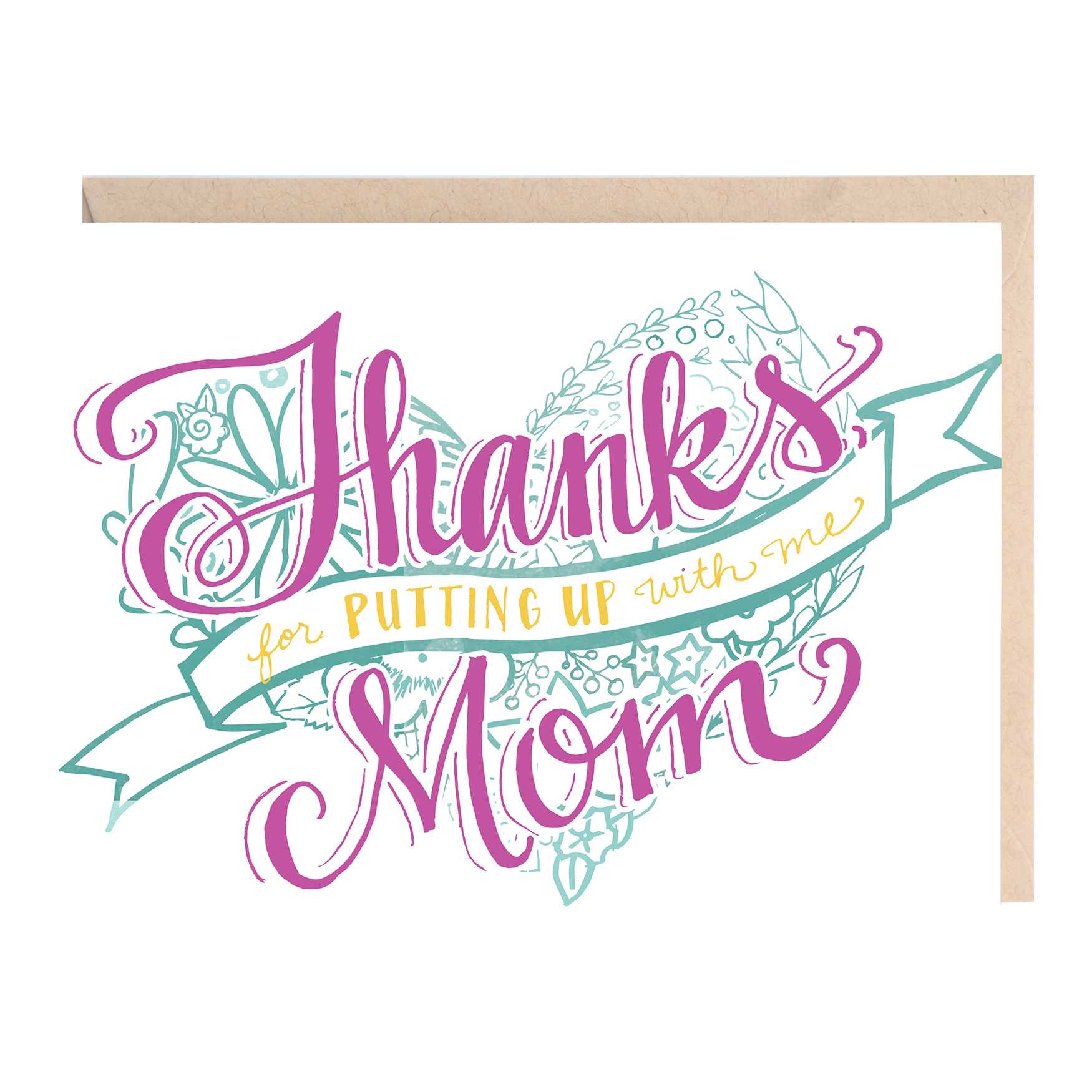 Thanks mom for putting up with me greeting card lionheart prints thanks mom for putting up with me greeting card m4hsunfo