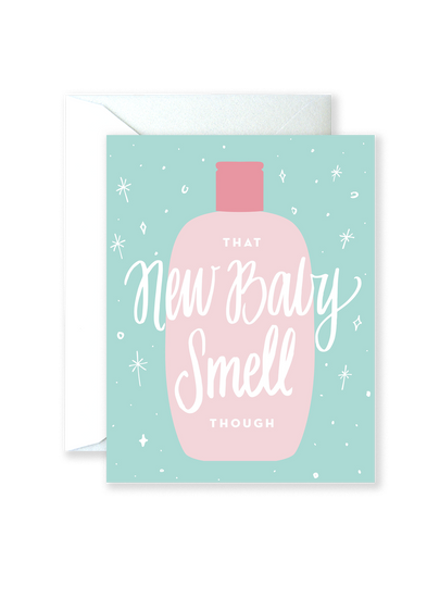 New Baby Smell Greeting Card