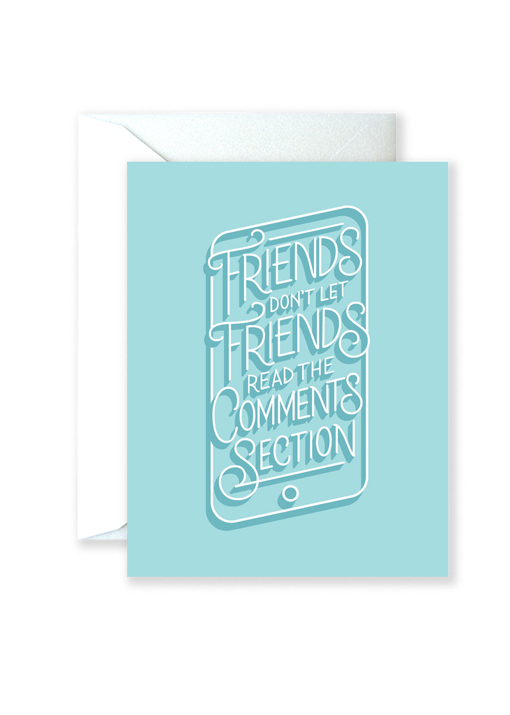 Comments Section Greeting Card