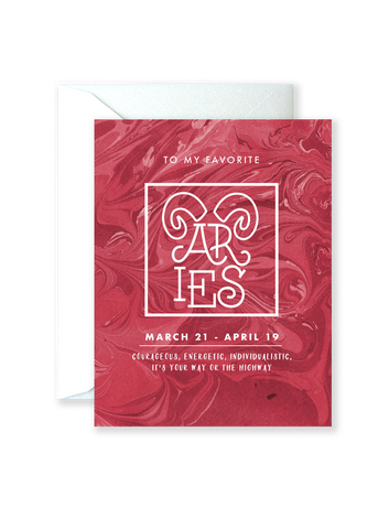 Aries Astrology Card