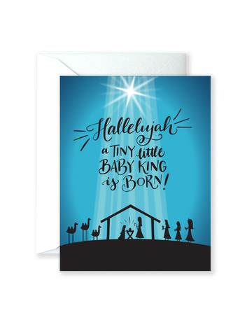 Tiny Baby King Holiday Greeting Card
