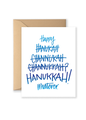 Hanukah Channukkah Holiday Greeting Card
