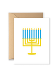 Menorah Holiday Greeting Card