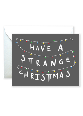 Strange Christmas Holiday Greeting Card