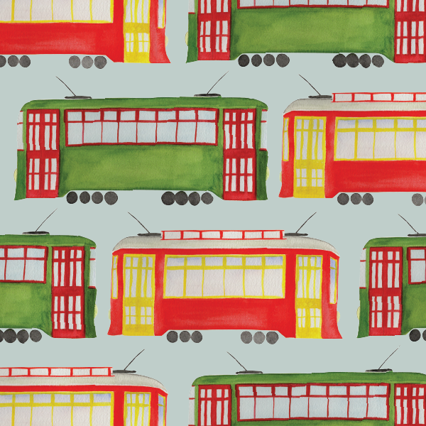 Everyday Streetcars Wrapping Paper