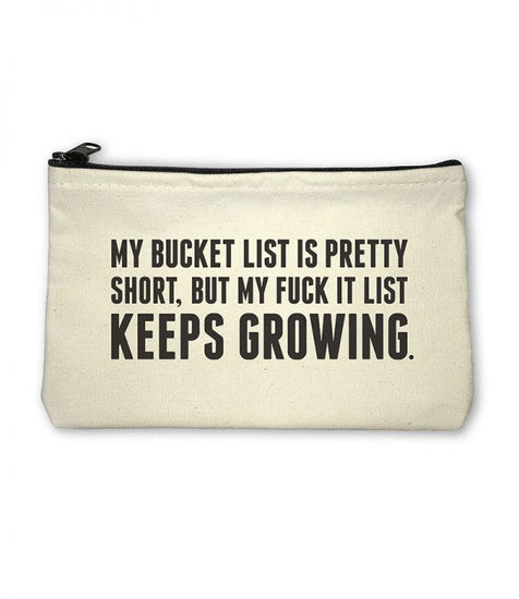 Bucket List Pouch