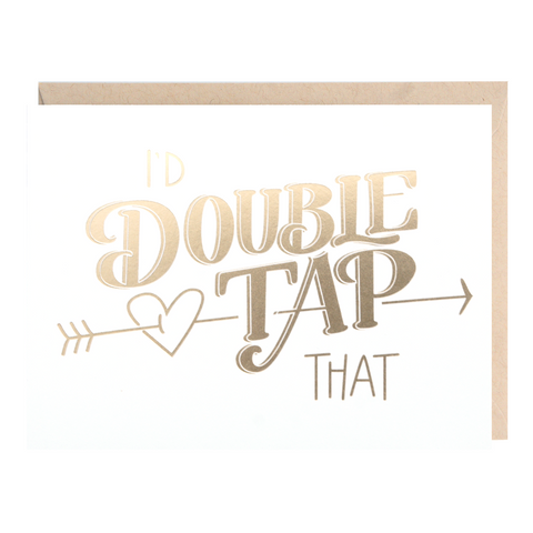 Double Tap Love Greeting Card