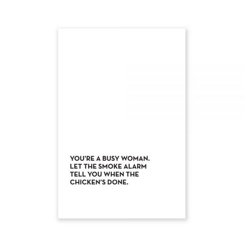 Busy Woman Tea Towel