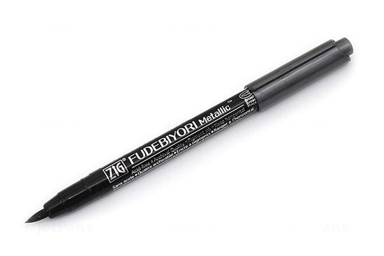 Zig Fudebiyori Metallic Brush Pen Black