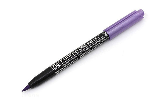 Zig Fudebiyori Metallic Brush Pen Light Violet