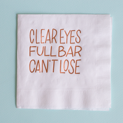 Clear Eyes Full Bar Can't Lose Cocktail Napkins
