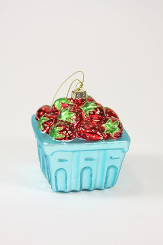 Strawberry Basket Ornament