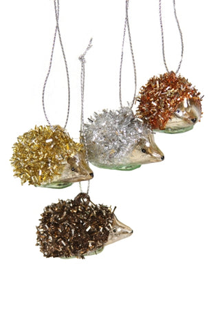 Tinsel Hedgehog Ornament