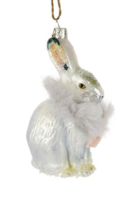 Arctic Bunny Ornament-- White