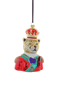 Regal Leopard Ornament